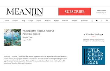 Meanjin Pandemic Fiction (website)