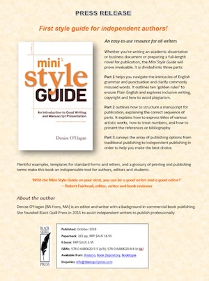 Mini Style Guide by Denise O'Hagan (Press Release)