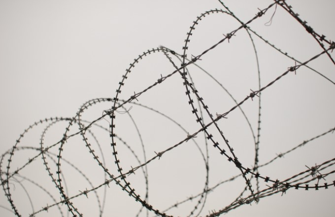 The Lucky Country - razor wire fencing