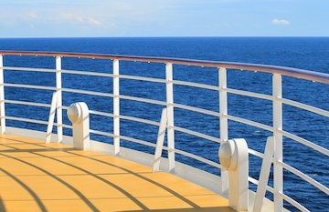 The Cruise Ship - view from the deck
